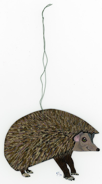 christmas decoration hedgehog front