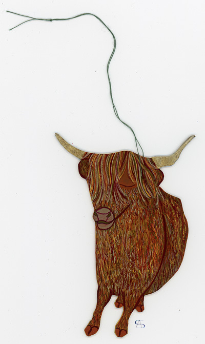 christmas decoration ox back