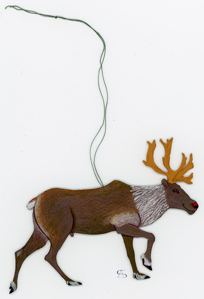 christmas decoration reindeer front