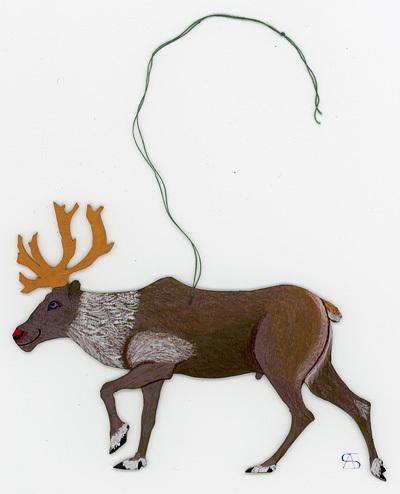 christmas decoration reindeer back